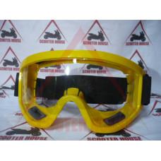 Очила  -EU- мотокрос жълта рамка, прозрачен визьор