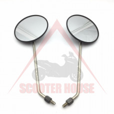 Огледала к-т -EU-  кръгли, резба-8mm, модел 2489