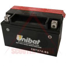 Акумулатор -UNIBAT- 6Ah 12V гелов  CBTX7A-BS, YTX7A-BS