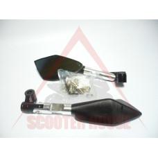 Огледала к-т -EU- болт-10mm и 8mm RACING STYLE рамо-95mm сребристи