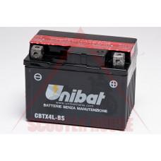 Акумулатор -UNIBAT- 3Ah 12V гелов CBTX4L-BS, YTX4L-BS