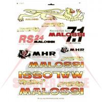Стикери MALOSSI височина=350mm, широчина=200mm