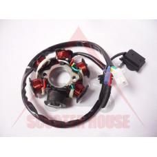 Статор -EU- GY6 50-150cc - 6 бобини,  5 кабела