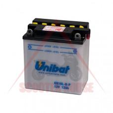 Акумулатор -UNIBAT- 11Ah 12V обслужваем ,CB10L-B2, CB10L-B-P, YB10L-BP