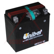 Акумулатор -UNIBAT- 12Ah 12V гелов CBTX14-BS, YTX14-BS