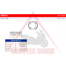НАКЛАДКИ -FERODO- FSB733 Yamaha Aerox 100, BWs 100, Nitro 100