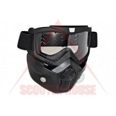 Очила -EU- с махаща се маска, прозрачен визьор
