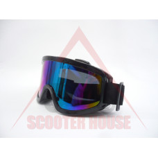 Очила  -EU- мотокрос черна рамка, огледален визьор
