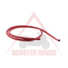 Кабел за свещ -BERU- ф7mm 100см силикон червен/ на линеен метър