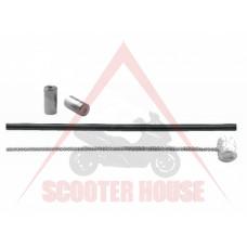 Жило газ -NOVASCOOT-универсално с кожух жило газ и спирачка -2000mm x 1.2mm кожух - 1650mm, накрайник ф-5mm