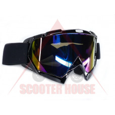 Очила  -EU- мотокрос A23 черна рамка, огледален визьор