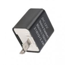 Реле за мигачи -EU- за LED мигачи, 80c/m +- 10c/m, 21Wx2+3.4W