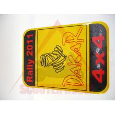 Стикер DAKAR светоотразителен 165x235mm