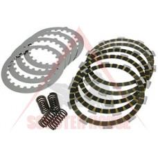 Дискове за съединител -TEKNIX- AM6 Tuning УСИЛЕН, комплект 5бр феродови + 4бр огледални, 4бр пружини