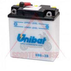Акумулатор -UNIBAT- 6Ah 6V обслужваем 6N6-3B
