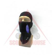 Боне -Bars- PROTECT двойна плътност черено, с един отвор на очите, универсален размер