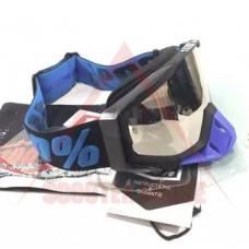 Очила -100 procent- сменяема плака, черна-синя рамка, черен-син ластик