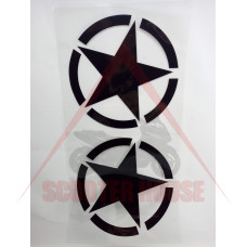 Стикери к-т -EU- 2бр звезда х 220mm