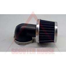 ВЪЗДУШЕН ФИЛТЪР -EU- СПОРТЕН връзка= 34/35/36mm, 90 градуса кривка, модел 4568