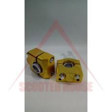 Повдигачи за кормило -EU- ф22mm, златисти
