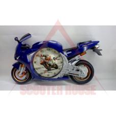 Часовник стенен - пистов мотор син