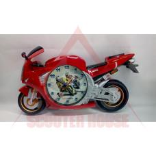 Часовник стенен - пистов мотор червен