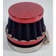 ВЪЗДУШЕН ФИЛТЪР -EU- СПОРТЕН JUNYA връзка с преходи=Ф28,35,47mm, 55mm височина, червен
