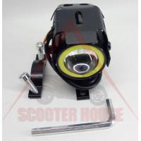Универсална лупа за мотор с дневна светлина 12v LED, малка-40mm