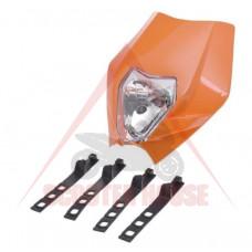 Маска с фар -EU- универсална, 315x300mm, оранжева KTM DUKE