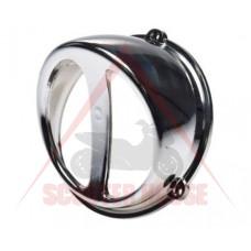 Въздухозаборник -WM- универсален за скутер въздушно охлаждане - цвят сребрист