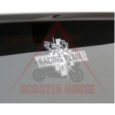 Стикер -Racing Planet- 130x105mm бял