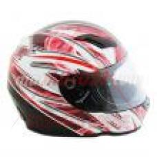 Каска -888- размер L, червен,бял,черен, FULL FACE, модел 5267