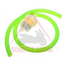Горивен маркуч -PL- с филтър Ф вътрешен= 5mm, Ф външен = 8mm, дължина= 1000mm, зелен