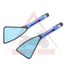Огледала к-т -EU- болт-10mm и 8mm RACING STYLE рамо-120mm сини, модел 5289